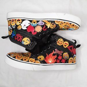 Emoji Harley high top canvas lace up shoes
